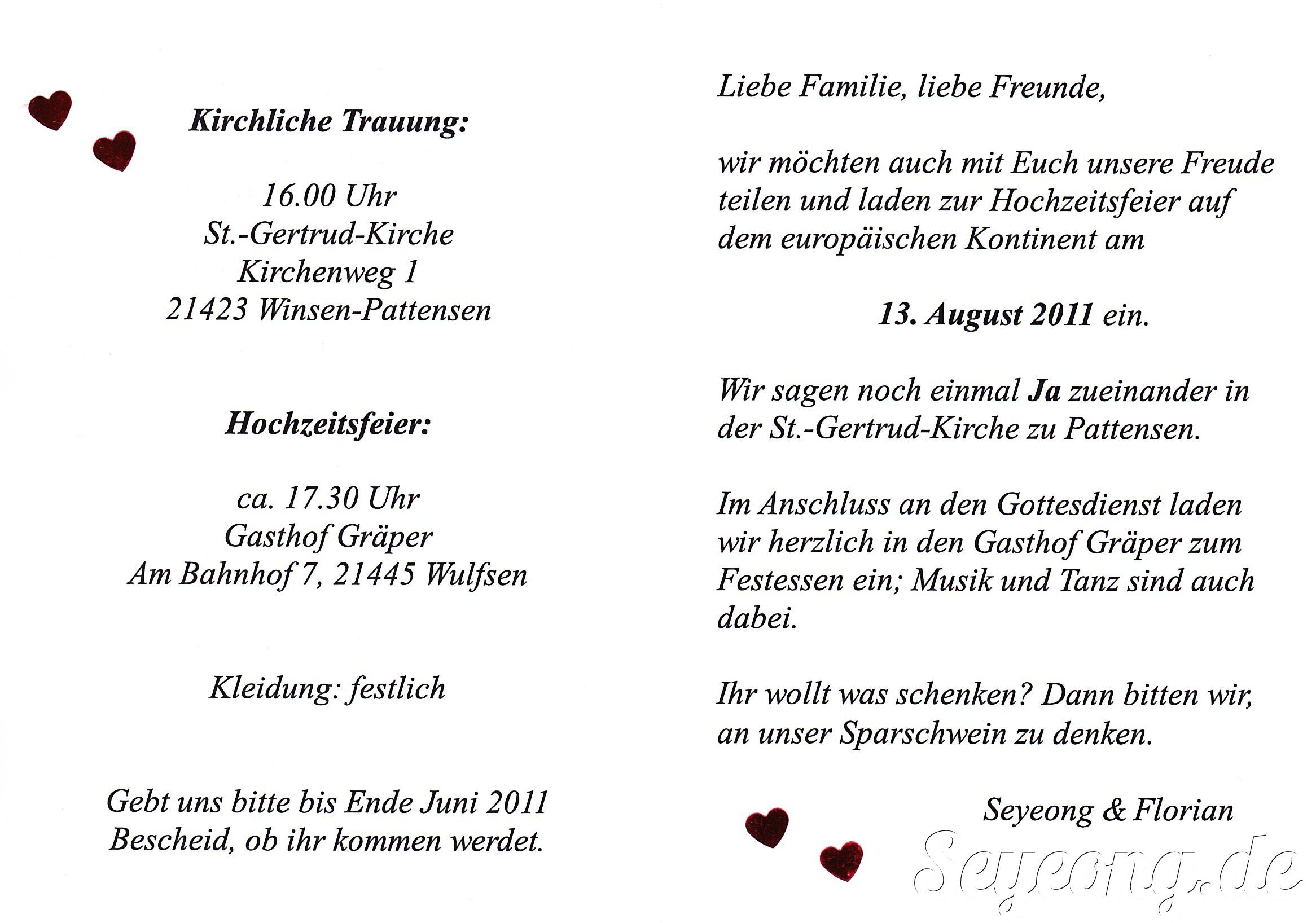 Invitation Deutsch